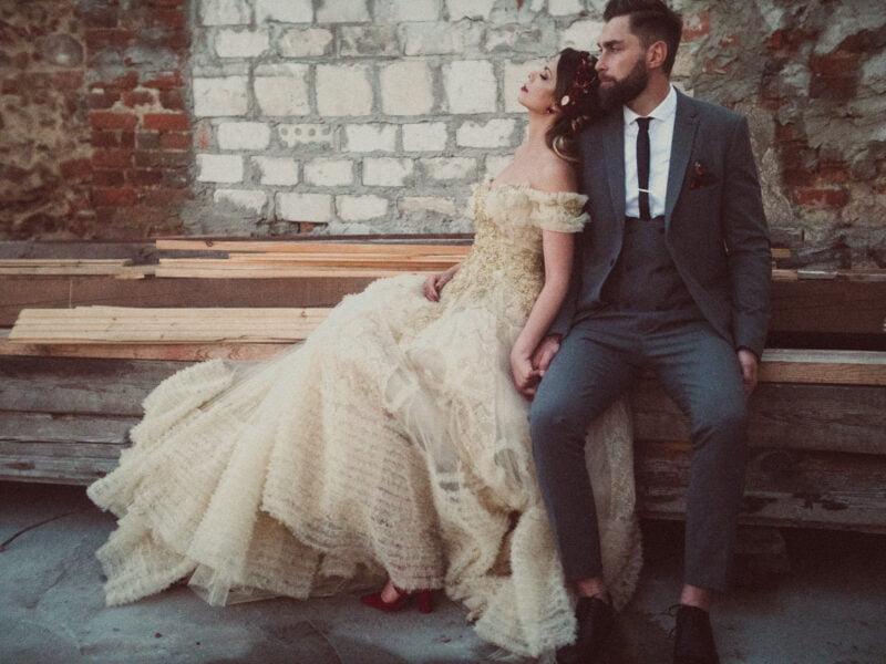 boho weddin couple 1
