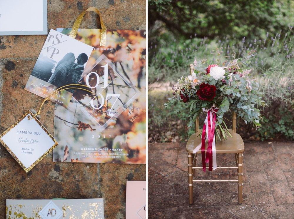 Detalles del lugar de la boda en barcelona - invitaiton